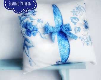 Bow Cushion Cover Sewing Pattern. Ideal beginners project. Very easy to make. Instant download. No difficult seams.