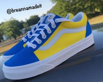 Custom Blueberry Lemonade Vans