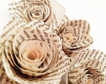Bookish Paper Roses