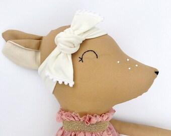 One custom made-to-order DOE/DEER fabric doll