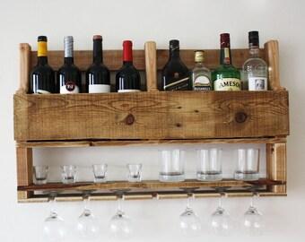 Wine rack, wine rack wall mounted, wine gifts, wine rack wood, wine rack wall, wine rack pallet, bar decor, reclaimed wood