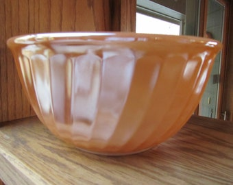 FIRE KING PEACH Lustre Mixing Bowl, Vintage Bowl