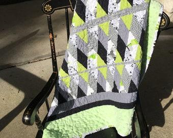 Minky Diamond quilt
