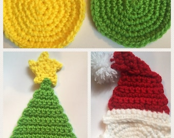 Christmas Coasters Set of 4
