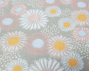 light grey with pink flower print