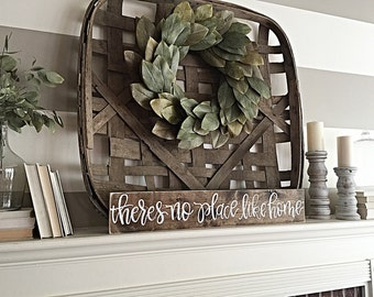 No Place Like Home | Rustic Home Decor | Wood Sign | Hand Painted | Shabby