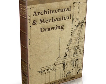 Architectural Mechanical & Technical Drawing - 315 Old Books on DVD - Engineering Technical Design Art Draughtsman History Geometric