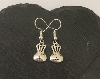 Bunny earrings / rabbit jewellery / pet jewellery / animal jewellery / animal lover gift