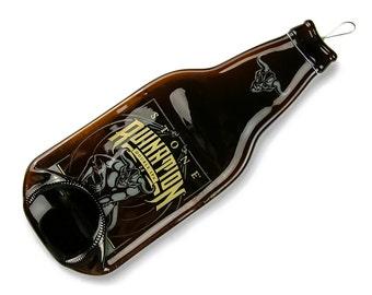 Stone Ruination Melted Bottle Spoon Rest, Anniversary Gift for Men, Groomsmen Gift, Guy Gift, Beer Gift, Bar Decor
