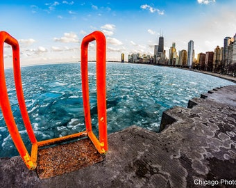 Chicago | Winter | Chicago Skyline | Chicago photography | Fine art Photography | Gift | Wall Decor