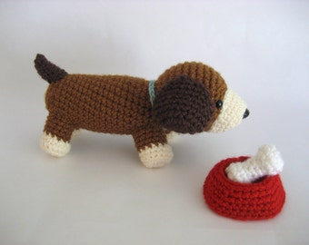 Amigurumi Crochet Puppy Play Set Pattern Digital Download