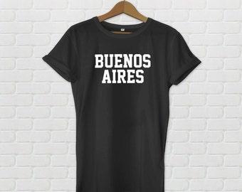 Buenos Aires Varsity Style T-Shirt - Black