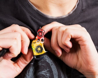 Neon gears steampunk cat brooch, mechanical jewelry, colorful jewelry, scifi jewelry, Steampunk jewelry, black cat, multicolor pin brooch