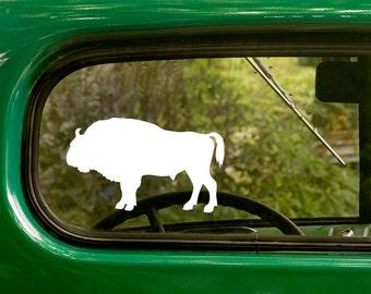 Buffalo Decal, Bison Decal, Buffalo Silhouette Decal, Car Decal, Vinyl Sticker, Laptop Sticker, Vinyl Decal