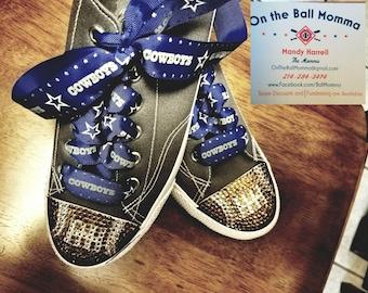 Dallas Cowboys bling tennis shoes