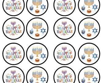Hanukkah Edible Wafer Rice Paper Cake Cupcake Toppers x 24 PRECUT