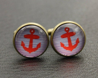 Anchor Cufflinks, (1616)