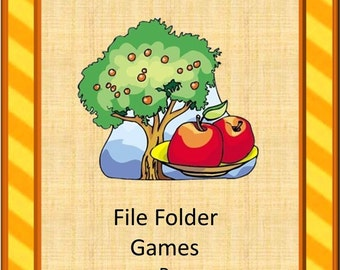 Teaching Materials, Instant Printable, Back to School, Home School,An Apple a Day File Folder Games-P-K, K, Special Education,Autism