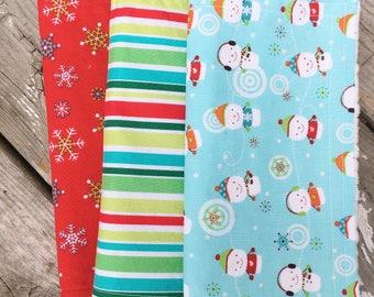 Christmas Baby Burp Cloths ~ Set of 3