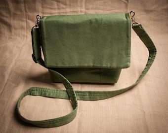 Green Mini Messenger Purse