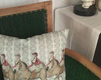 """Equestrian Pillow 18"""""""