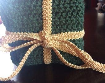 Kitchen dish cloths in medium thyme color       Set of 4