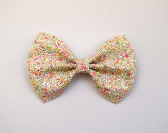 EXCLUSIVE EASTER Glitter Bow Adorable Photo Prop Pictures Headband for Newborn Baby Little Girl Child Adult Spring Summer Easter Clip