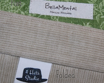 Completely Customized Sew In Fabric Tags for your crafts, clothing, etc.