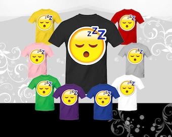 Sleeping Face Emoji T-shirt (U+1F634)