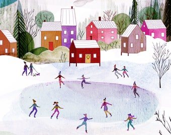 Winter Ice Skaters