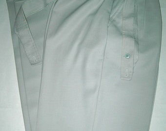 Dove Gray Pleated Pants Vintage Le Painty Waist 28 French 1980s Need Finishing