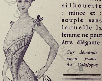Corsets 1909, Art and collections, printable, Digital Image, digital download, Vintage antique graphic instant download