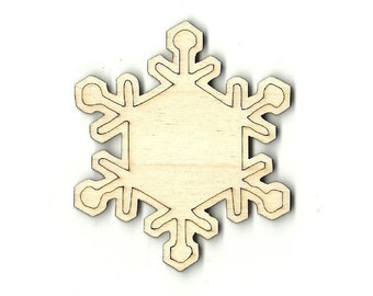 Snowflake - Unfinished Laser Wood Cut Out Shape Craft Supply SNW41