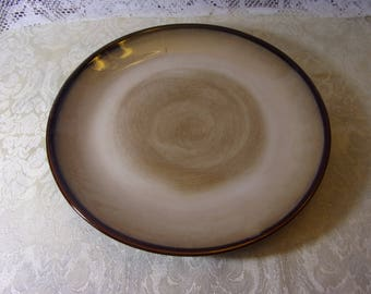 Sango Nova Brown 12in Chop Platter - Pattern 4933 - Sango Stonewear - Sango Nova Brown Stonewear