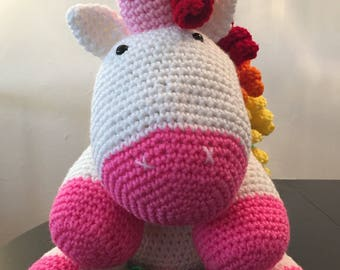 Crochet unicorn - Unicorn stuffed - Unicorn baby shower - Unicorn Plush - Rainbow unicorn - Stuffed unicorn - Amigurumi unicorn