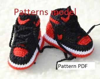 CROCHET PATTERN -Nike Air Jordan 1 Crochet Baby Booties pattern