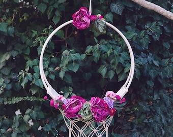 Macrame Swing -Floral Hoop Swing-Photo Prop-Newborn Photography Swing-Macrame Flower Swing-Romantic Swing For Newborn And Children