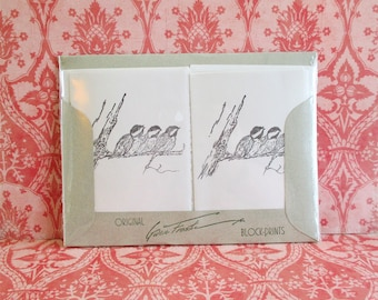 Vintage Gwen Frostic Note Cards and Envelopes - Birds