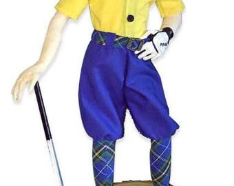"NI102E - Mulligan, 17.5"" Golfer Cloth Doll Making Sewing Pattern"