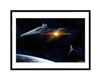 STAR WARS - Star Destroyer - Movie Poster
