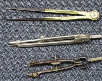 Caliper and 2 Compasses