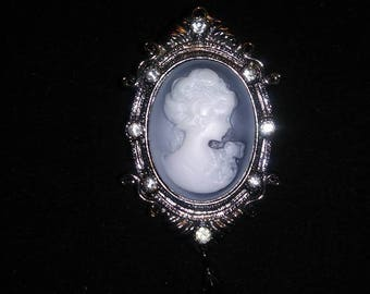 Lady Cameo Hair Barrette