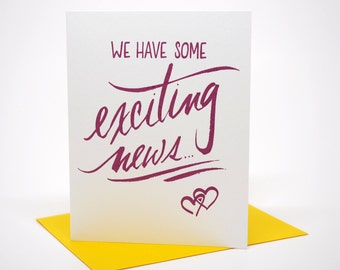 Exciting News, Greeting Card