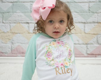 BIG SISTER LITTLE Sister Outfits / Big Sister Shirt / Big Sister Gift / Little Sister Onesie / Matching Sister Outfits / Big Sister To Be