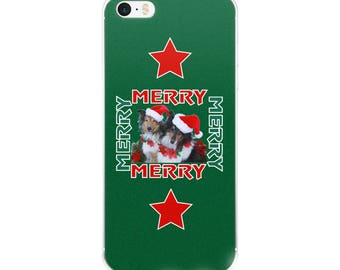 Santa Shelties Merry Merry Christmas Holiday iPhone Case