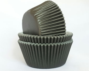 High Quality Black Standard Size Cupcake Cases Cupcake Liners