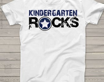 Back to school shirt - kindergarten or any grade rocks back to school Tshirt  mscl-078