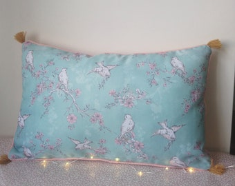Rustic pastel cushion