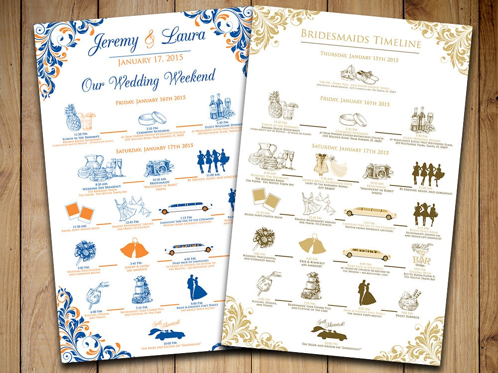 wedding timeline wedding itinerary order of events wedding wedding timeline free template