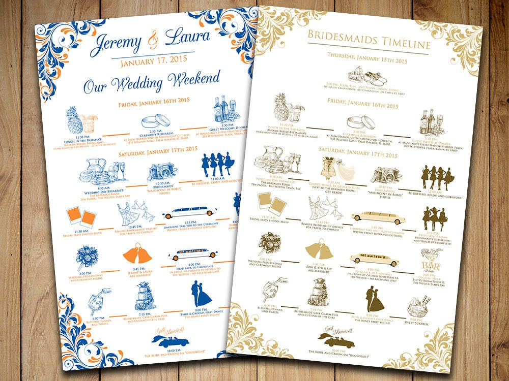 Wedding Timeline Wedding Itinerary Order Of Events Wedding - Wedding timeline template free